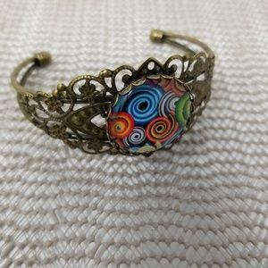 Bohemian Antique Brass Vintage-Look Bracelet